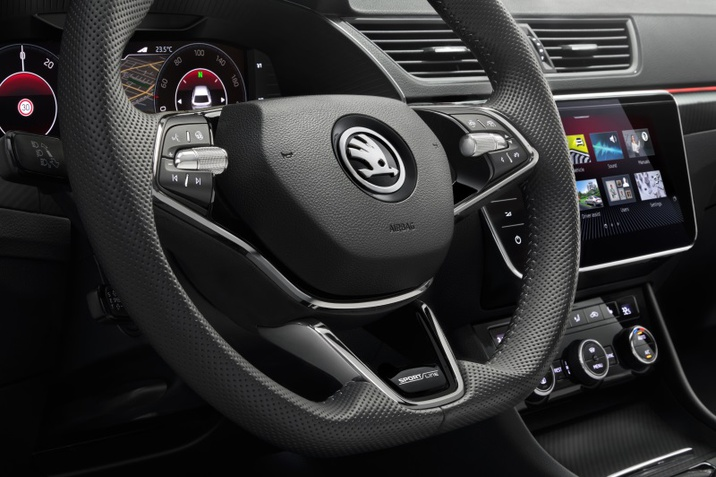 Superb Sportline steering wheeel